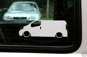 2x LOW Renault Trafic 1.9TD van outline car stickers , decals
